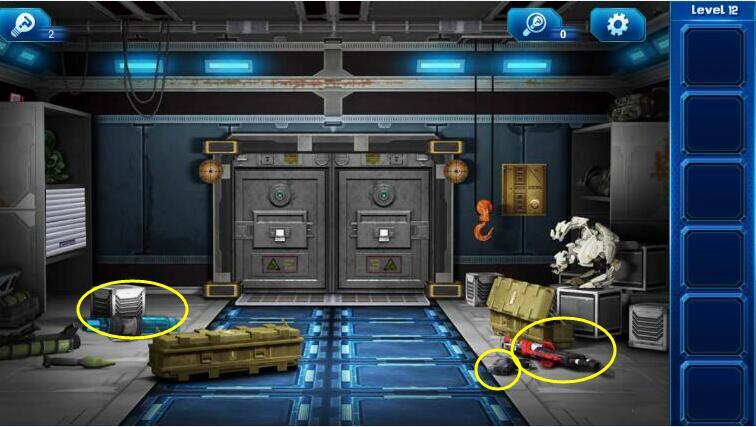 《密室逃脱9:逃出太空船》第十二关通关攻略