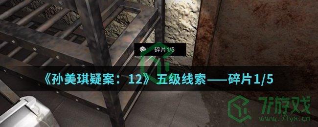 《孙美琪疑案:12》五级线索——碎片1/5