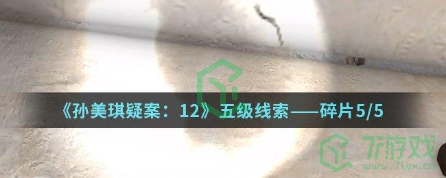 《孙美琪疑案:12》五级线索——碎片5/5