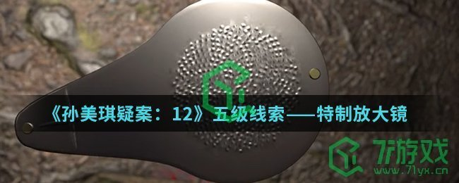 《孙美琪疑案:12》五级线索——特制放大镜